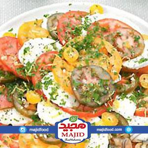 سالاد موزارلا با گوجه فرنگی