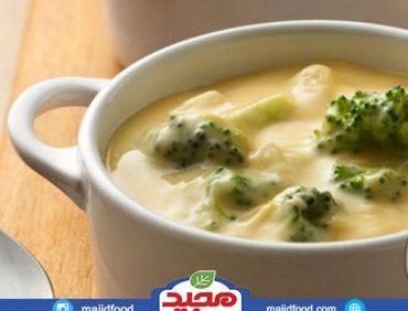 سوپ بروکلی و پنیر