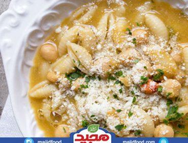 سوپ پاستا و نخود