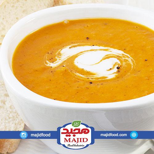 سوپ کدو حلوایی اسپایسی