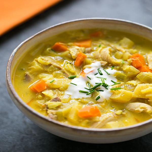 سوپ بوقلمون و برنج