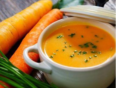 سوپ زنجبیل و هویج