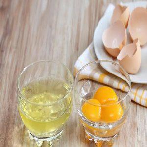 فواید ماسک سفیده تخم مرغ