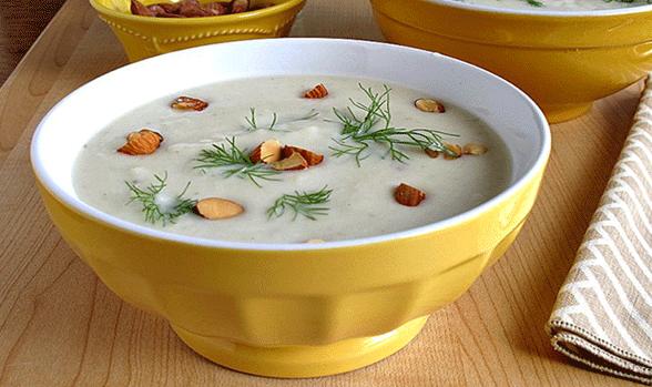 سوپ بادام