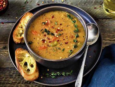 سوپ نخود مدیترانه ای