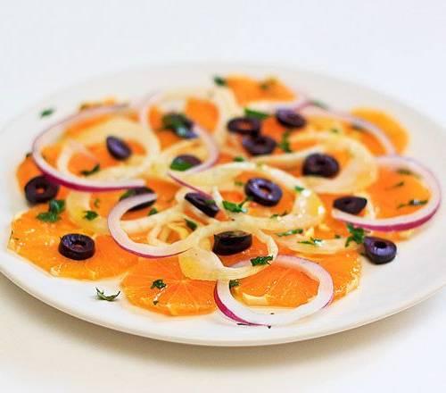 سالاد پرتقال و پیاز