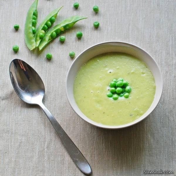 سوپ نخودفرنگی با رزماری