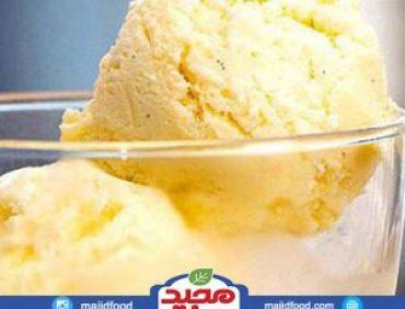 بستنی وانیلی زعفرانی