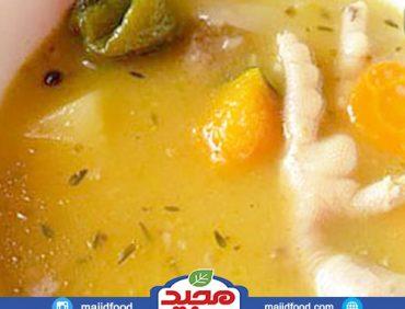 سوپ پای مرغ و سبزیجات