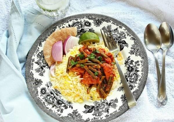 خورش لوبیا سبز با سویا